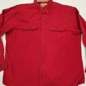Cabela's Deerskin Soft Chamois Shirt Mens XL Tall